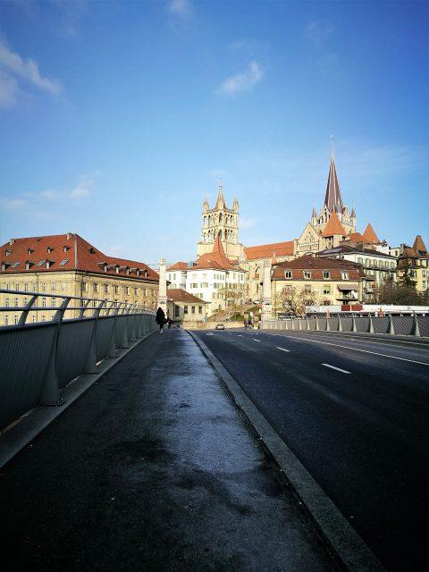 vue de Lausanne du pont Bessière